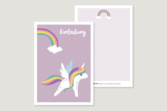 "Invitation card: ""Unicorn"""