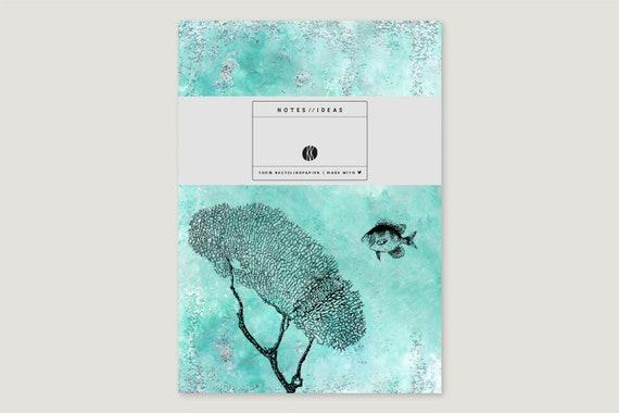"""Note booklet: """"Korallen.Glitzer.Fisch"""""""