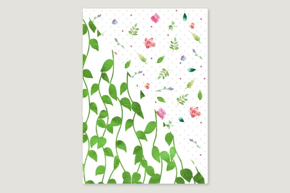 "Wrapping paper: ""Blumen.Ranke"""