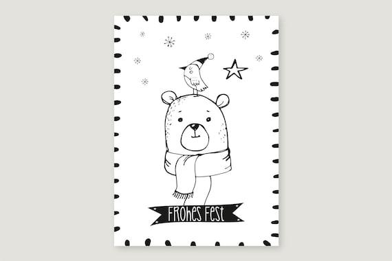 "Postcard: ""Happy Feast Bear"""