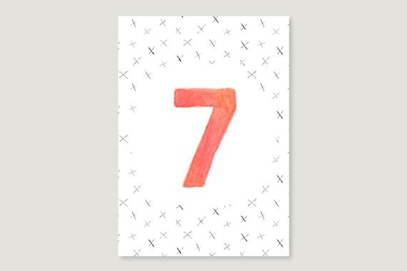 "Postcard: ""Seven"""
