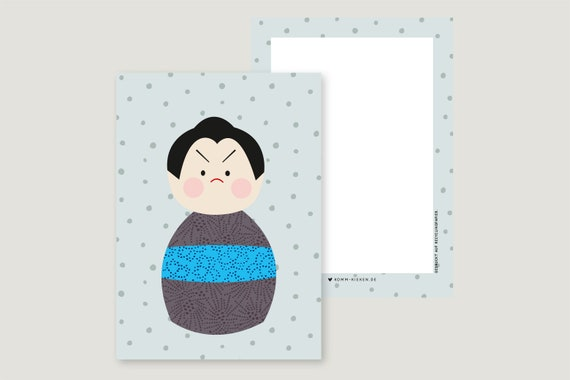 "Greeting Card: ""Kokeshi Ju2"""