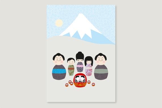 "Postcard: ""Kokeshi December"""