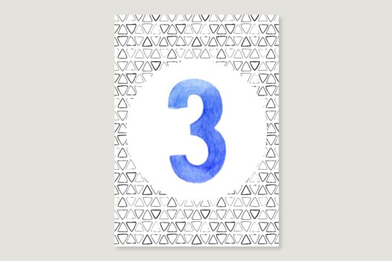 "Postcard: ""Three"""