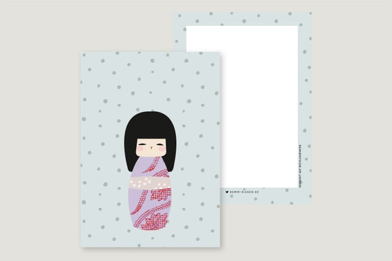 "Greeting Card: ""Kokeshi Mä2"""