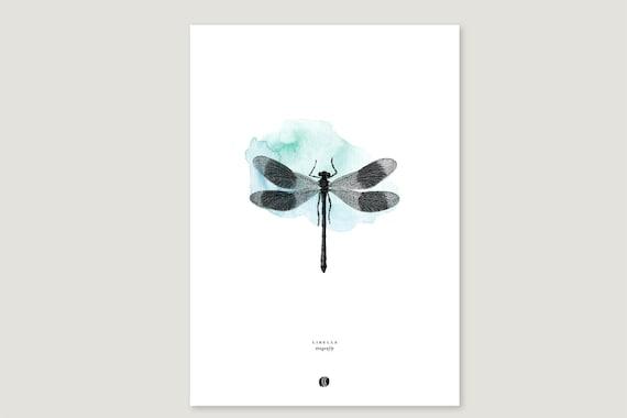 "Art Pressure/Fine Art Print: ""Libelle.Klecks"""