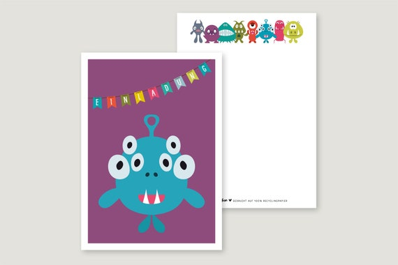 "Invitation Card: ""Monster 6"""