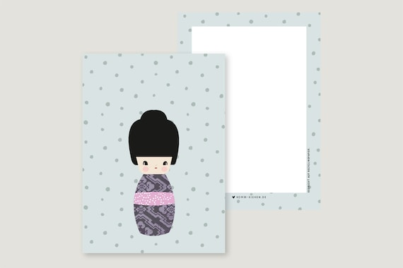 "Greeting Card: ""Kokeshi MI"""