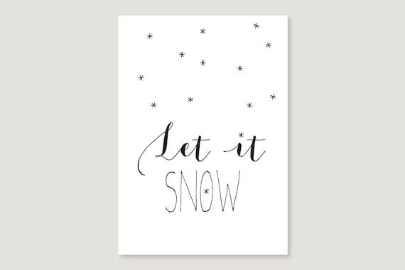"""Postcard: """"Let it snow"""""""