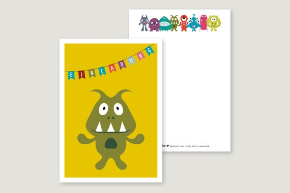 "Invitation Card: ""Monster 7"""