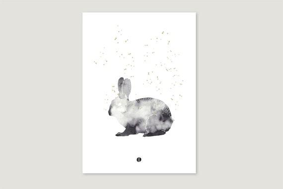 "Art Pressure/Fine Art Print: ""Aqua.Hare"""