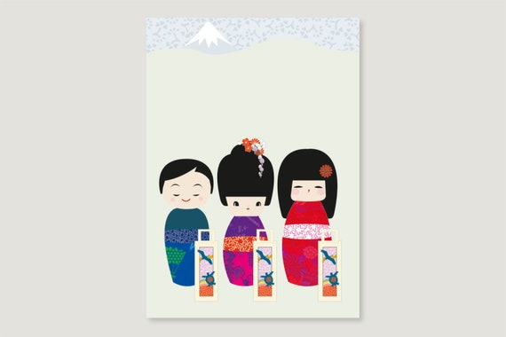 "Postcard: ""Kokeshi October"""