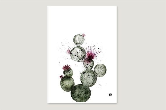 """Art Pressure/Fine Art Print: """"Cactus"""""""