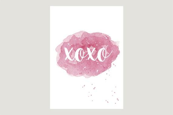 "Postcard: ""XOXO"""