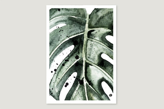 "Art Print/Fine Art Print: ""Monstera.Gross"""