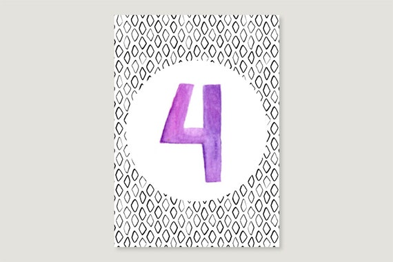 "Postcard: ""Four"""