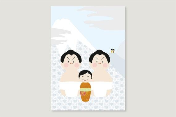 """Postcard: """"Kokeshi August"""""""