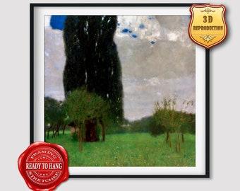 The Tall Poplar Trees II by Gustav Klimt Giclee Fine ArtPrint Repro on Canvas