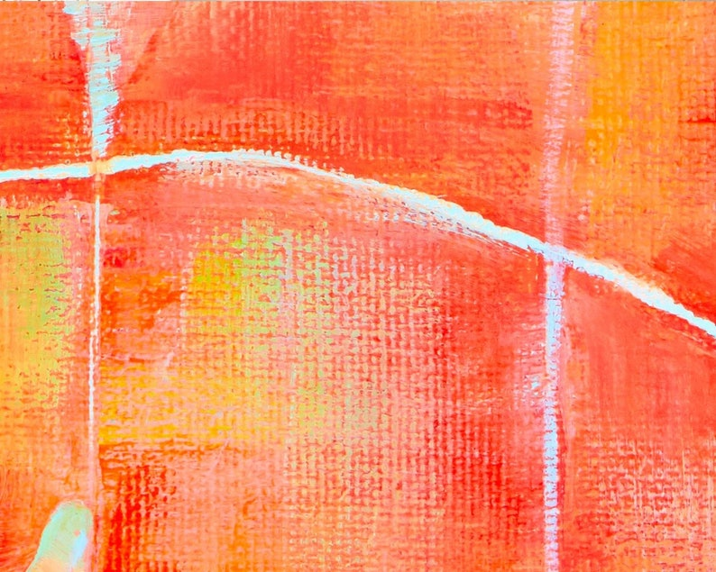 Rolands Krisjanis Orange Dreams Giclee Print Reproduction Painting Large Size Canvas Paper Abstract Wall Art Poster Ready to Hang Frame