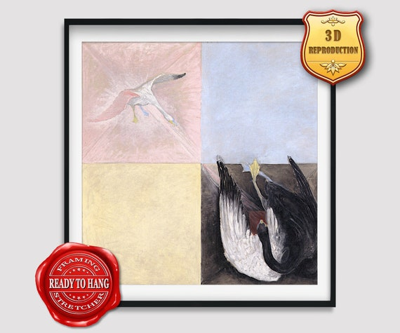 Hilma af Klint Abstract Paintings Swan Printed Painting Poster Reproduction