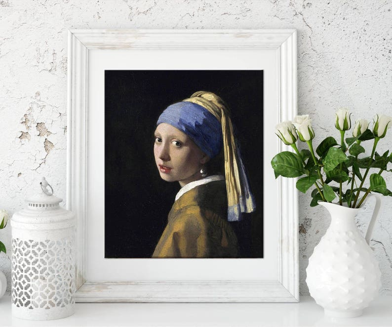 Johannes Vermeer Mädchen Mit Dem Perlenohrring 3d Textur Gel Etsy