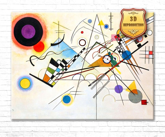 WASSILY KANDINSKY COMPOSITION VI OIL PAINT REPRINT ON FRAMED CANVAS WALL ART