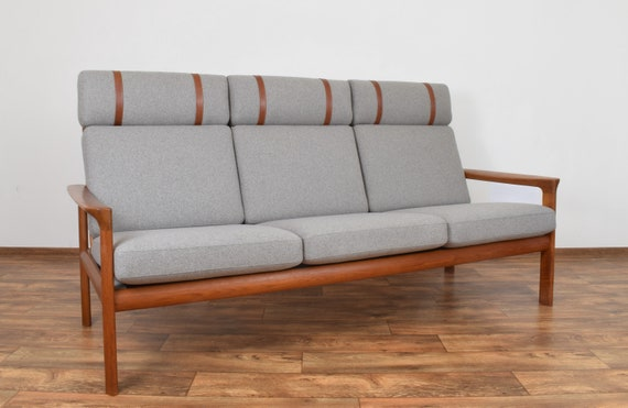 Marvelous Mid Century Teak Sofa Borneo By Sven Ellekaer For Komfort 1960S Gmtry Best Dining Table And Chair Ideas Images Gmtryco