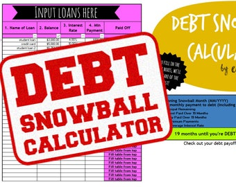 Debt Snowball Calculator | Automatically Calculates Payoff Date on Debt Snowballs & Avalanches