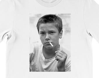 Men's River Phoenix T-Shirt In White cult 80s classic movie