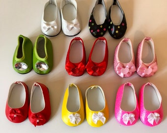 48cc835370cc 18 Inch Doll Shoes Glitter Doll Shoes Shoes With Bows Fits Like American  Girl Doll Shoes