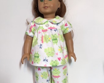 "Pink Bunny Nightgown Pajamas Fits 6/"" Mini American Girl Doll Clothes"
