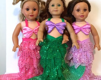 "Rich and Famous Mermaid 18"" Doll Clothes,"