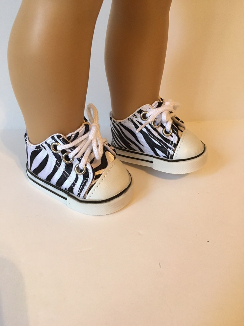 Doll Clothes for 18 inch American Girl Canvas Tennis Shoes Sneakers Shoelace