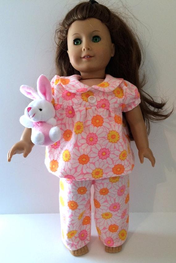 a468b576e5d5 Fits Like American Girl Doll PajamasDaisy Doll Pajamas with