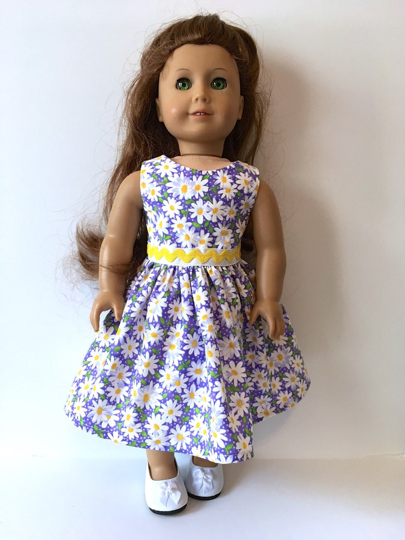 1c1250100f9b9 American Girl Doll Dress , Fits American Girl Doll Clothes, Doll Dress w  Grosgrain Ribbon, Opt White Shoes, 18 Inch Doll Clothes