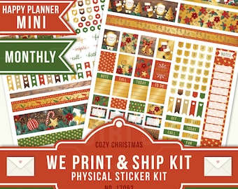 DECEMBER PLANNER KIT, December Monthly Planner Stickers, Monthly Planner Kit, Mini Planner Sticker, Mini Happy Planner Stickers, 17052