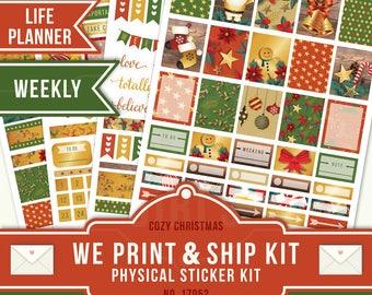 CHRISTMAS STICKER KIT, Matte Planner Sticker, Erin Condren Planner Sticker, Weekly Planner, Christmas Kit, December Planner Sticker, 17052