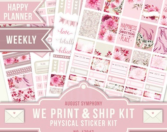 Week Kit, Happy Planner Stickers, Floral Planner Stickers, Weekly Planner Kit, August Planner Stickers, Happy Planner Weekly, MAMBI, 17047