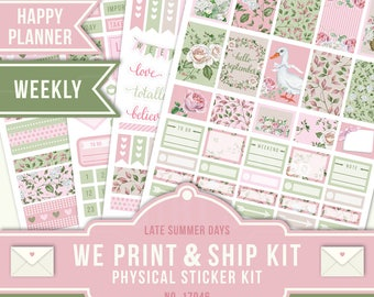 Full Sticker Kit, Happy Planner Stickers, Floral Planner Stickers, Weekly Planner Kit, September Planner Stickers, Happy Planner, 17046