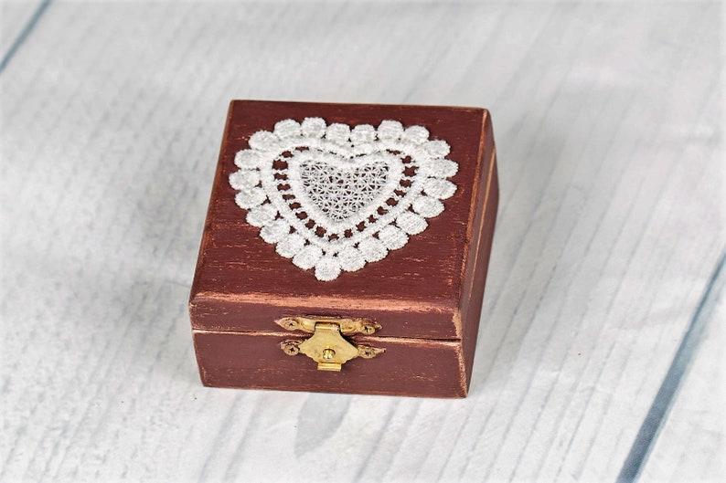 Wood Box Ring Pillows Gift Box Small Wooden Box Hand Made Ring Box Rustic Wedding Engagement ring box Wedding Ring Box Wedding Decor