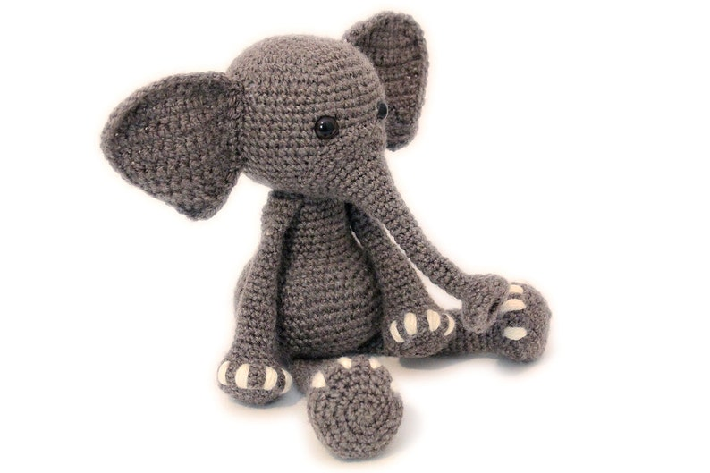 Crochet PATTERN Elephant Elephant Amigurumi Elephant image 0