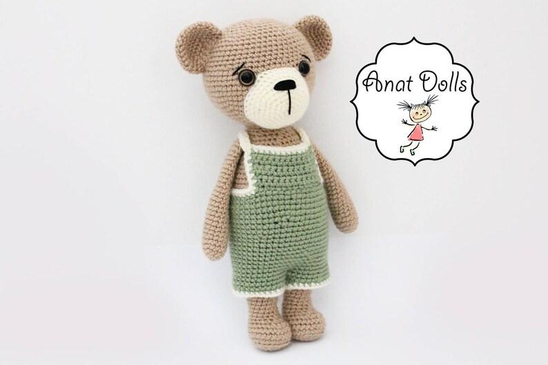 Crochet Bear PATTERN teddy  Amigurumi bear pattern-Bear  image 0