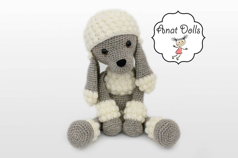 Amigurumi Dog PATTERN  Poodle  Puppy  crochet dog pattern image 0