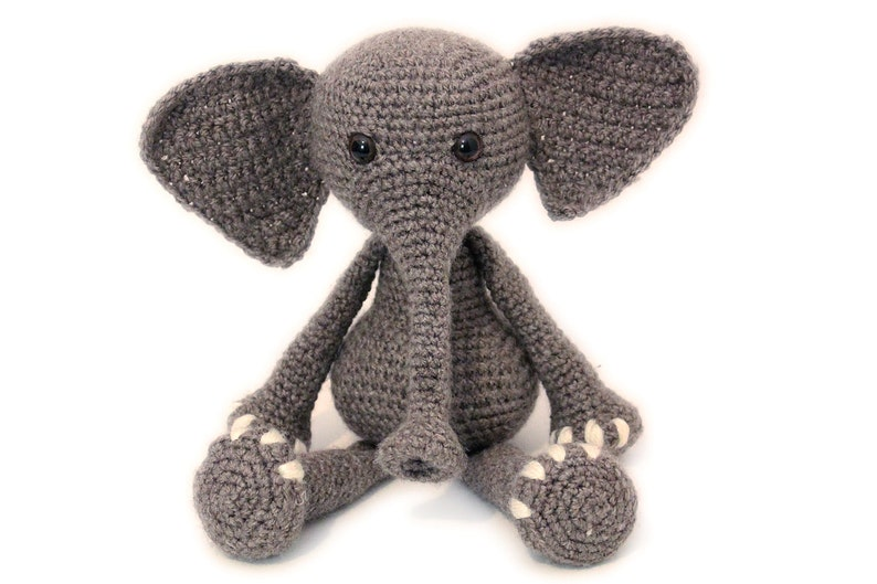Beautiful Elephant Crochet Doll with Tusks by amiamour on Etsy ... | 529x794