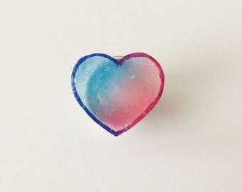 Mini Heart Gradient Pin Badge