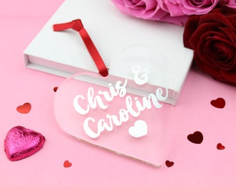 Personalised Couple's Names Foiled Acrylic Heart