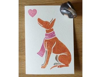PHARAOH HOUND kelb tal-fenek dog notecards gifts greetings by York animal artist, watercolour design, thank you, birthdays etc 5 pack