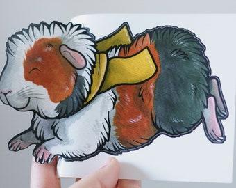 Guinea Pig Little Heart Sticker L139 8 inch aquarium cage decal