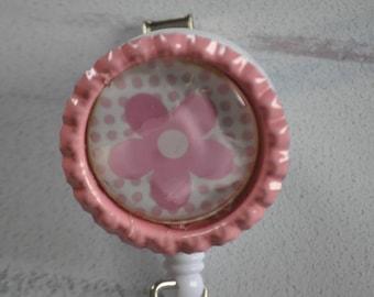Spring Retractable ID Badge Reel | Spring Flower | Flower Badge Reel | Spring Badge | Nurse ID Badge | Gift under 10 | RN Badge