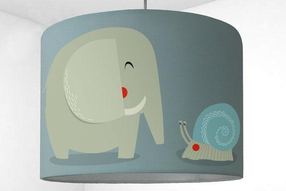 Kinderzimmer Lampenschirm Kinderlampe Elefant Mint Etsy